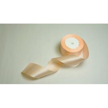 Лента атласная, 50мм*23м (цвет персиковый)