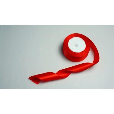 Лента атласная, 40мм*23м (цвет красный)