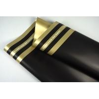"""Пленка матовая DUOMAT """"три полосы"""", ( цвет черный/золотой) 58см*10м, 65мкм"""