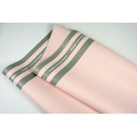 "Пленка матовая DUOMAT ""три полосы"", ( цвет светло-розовый/серый) 58см*10м, 65мкм"