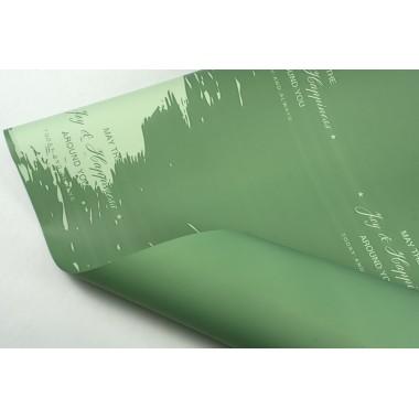 """Пленка матовая DUOMAT """"акварель"""", (цвет мятный) 58см*10м, 65мкм"""