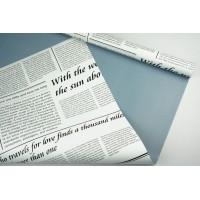 "Пленка матовая DUOMAT ""цветочная газета"", (цвет голубой) 58см*10м, 60мкм"