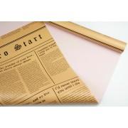 "Пленка матовая DUOMAT ""цветочная газета"", (цвет лиловый) 58см*10м, 60мкм"