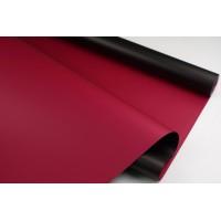 Пленка матовая DUOMAT,58см*10м,60 мкм ( цвет черный/винный)