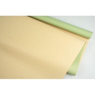 Пленка матовая DUOMAT, (цвет фисташковый/песочный) 58см*10м, 65мкм