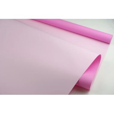 Пленка матовая DUOMAT,58см*10м,60 мкм ( цвет ярко розовый/светло-розовый)