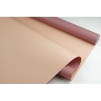 Пленка матовая DUOMAT,58см*10м,60 мкм ( цвет пепельно-розовый/песочный)