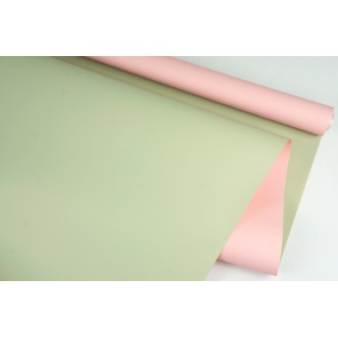 Пленка матовая DUOMAT, (цвет персиковый/молочный чай) 58см*10м,  65мкм
