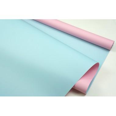 Пленка матовая DUOMAT,58см*10м,60 мкм ( цвет розовый/голубой)