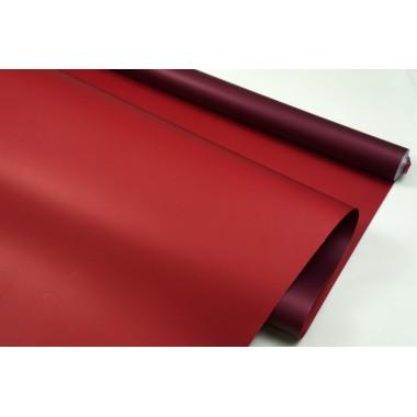 Пленка матовая DUOMAT,58см*10м,60 мкм ( цвет сливовый/бордовый)