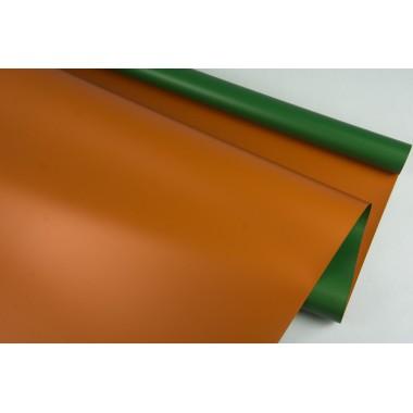 Пленка матовая DUOMAT, (цвет темно-зеленый/терракотовый) 58см*10м, 65мкм