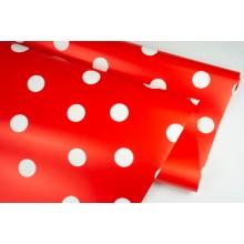 "Пленка матовая DUOMAT ""горох"", (цвет красный) 58см*10м, 65мкм"