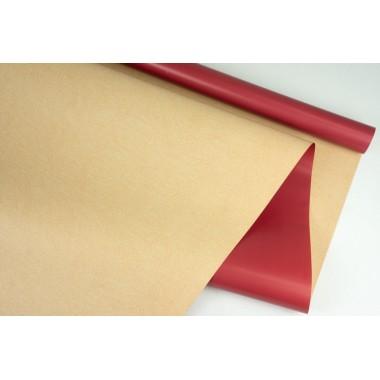 """Пленка матовая DUOMAT """"крафт"""", (цвет бордовый) 58см*10м, 65мкм"""