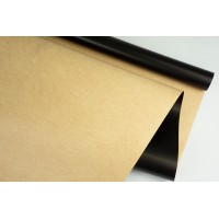 """Пленка матовая DUOMAT """"крафт"""", (цвет черный), 58см*10м, 65мкм"""