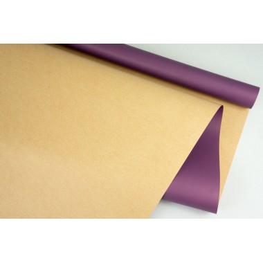 """Пленка матовая DUOMAT """"крафт"""", (цвет темно-фиолетовый) 58см*10м, 65мкм"""