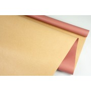 """Пленка матовая DUOMAT """"крафт"""", (цвет пепельно-розовый) 58см*10м, 65мкм"""