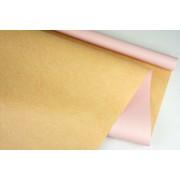 """Пленка матовая DUOMAT """"крафт"""", (цвет светло-розовый) 58см*10м, 65мкм"""
