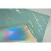 "Пленка матовая DUOMAT ""неон"", (цвет серо-голубой) 58см*10м,70мкм"