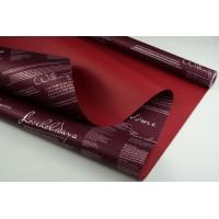 """Пленка матовая DUOMAT """"поэзия"""",58см*10м,60 мкм ( цвет сливовый/бордовый)"""