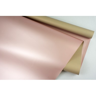 "Пленка матовая DUOMAT ""розовое золото"", (цвет бежевый) 58см*10м, 65мкм"