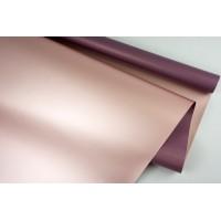 """Пленка матовая DUOMAT """"розовое золото"""", (цвет фиолетовый) 58см*10м, 65мкм"""