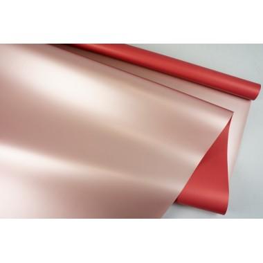 """Пленка матовая DUOMAT """"розовое золото"""", (цвет красный) 58см*10м, 65мкм"""