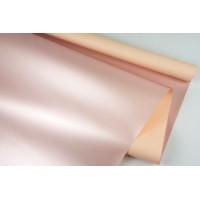 """Пленка матовая DUOMAT """"розовое золото"""", (цвет персиковый) 58см*10м, 65мкм"""