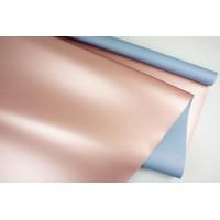 """Пленка матовая DUOMAT """"розовое золото"""", (цвет голубой) 58см*10м, 65мкм"""