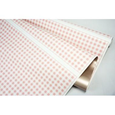 """Пленка матовая DUOMAT """"шахматная доска"""", ( цвет розовый) 58см*10м, 65мкм"""