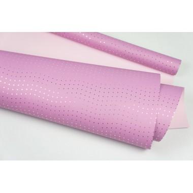 """Пленка матовая DUOMAT """"стразы"""", (цвет сиреневый/светло-розовый) 58см*10м, 65мкм"""