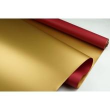 """Пленка матовая DUOMAT """"золотая сторона"""", (цвет бордовый) 58см*10м, 65мкм"""