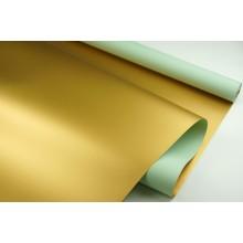 """Пленка матовая DUOMAT """"золотая сторона"""",58см*10м,70 мкм ( цвет мятный)"""