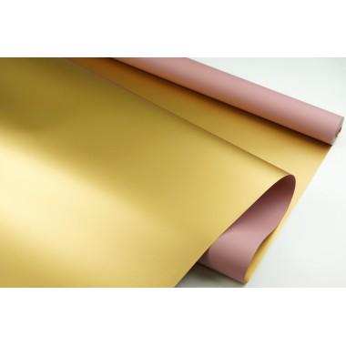"""Пленка матовая DUOMAT """"золотая сторона"""",58см*10м,70 мкм ( цвет пепельно-розовый)"""