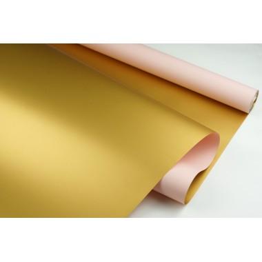 """Пленка матовая DUOMAT """"золотая сторона"""",58см*10м,70 мкм ( цвет персиковый)"""