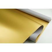 """Пленка матовая DUOMAT """"золотая сторона"""",58см*10м,70 мкм ( цвет серый)"""