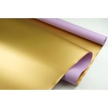 """Пленка матовая DUOMAT """"золотая сторона"""",58см*10м,70 мкм ( цвет сиреневый)"""
