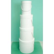 Шляпная коробка (набор 4 штуки (белый) , размер 14*18,5см, 18*19см, 19*22см, 25*20,5см)