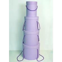 Шляпная коробка (набор 4 штуки (сиреневый) , размер 14*18,5см, 18*19см, 19*22см, 25*20,5см)