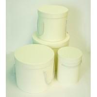 Шляпная коробка (набор 4 штуки (кремовый) , размер 14*18,5см, 18*19см, 19*22см, 25*20,5см)