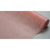 """Фетр 3D ламинированный """"Розы"""" 50см*10м (цвет персиковый)"""