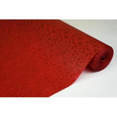 """Фетр 3D ламинированный """"Паутинка"""" 50см*10м (цвет бордовый)"""