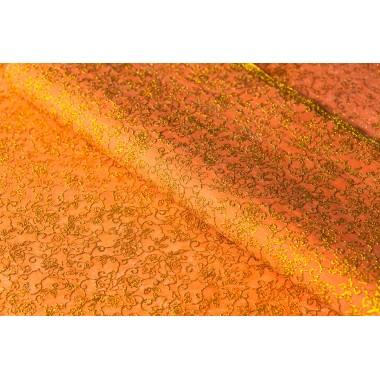"""Фетр цветы """"золото"""" 60см*60см, 20шт. в уп. (цвет оранжевый)"""