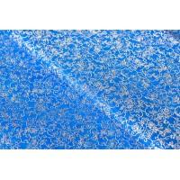 """Фетр цветы """"серебро"""" 60см*60см, 20шт. в уп. (цвет синий)"""