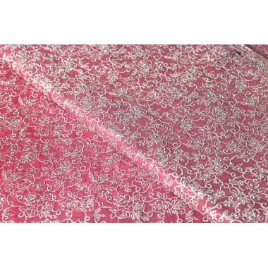 """Фетр цветы """"серебро"""" 60см*60см, 20шт. в уп. (цвет бордовый)"""