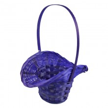 Корзина плетеная (бамбук), d21/13хh14/29см, цвет фиолетовый