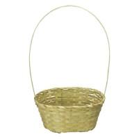 Корзина плетеная (бамбук) овальная, 30*22*13*49см, цвет натуральный