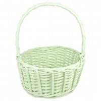 Корзина плетеная (ива), d22*11/27см, цвет зеленый