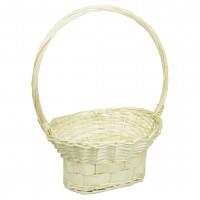 Корзина плетеная (ива) ваза, d28*20см,h15*43см цвет натуральный