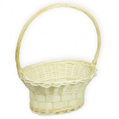 Корзина плетеная (ива) ваза, d36*25см,h18*46см цвет натуральный