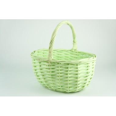 Корзина плетеная (ива), 23*19*12*23см, цвет зеленый